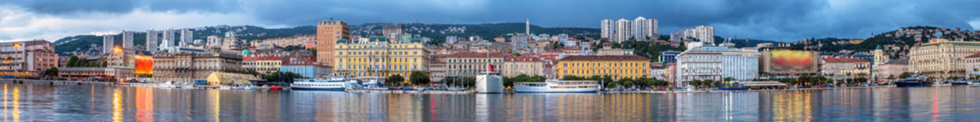 Panorama of Rijeka city in Croatia