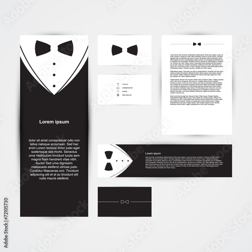 invitation template black design with bow tie business card buy