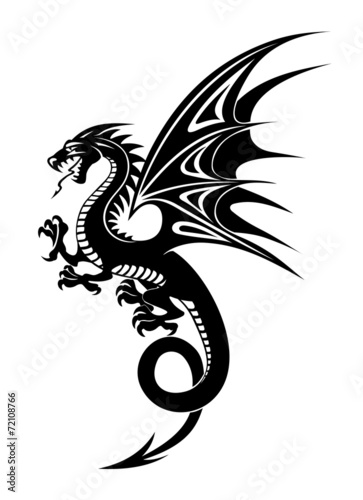 Black dragon Fototapet