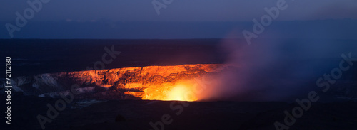 Photo sur Toile Volcan Halemaumau Crater