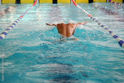 Photo  Swimmer in the swimming pool