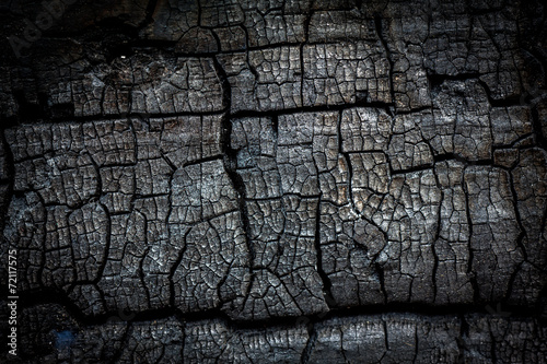 Wall Murals Firewood texture Close up of burn log