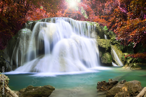 Fototapety, obrazy: Beautiful waterfall in autumn forest
