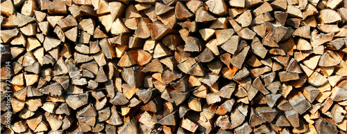 Poster Brandhout textuur brennholz
