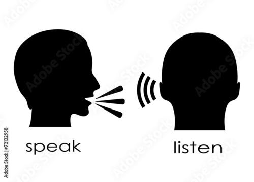Fotografía  Speak and listen