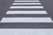 Close - Up Zebra Crossing From...