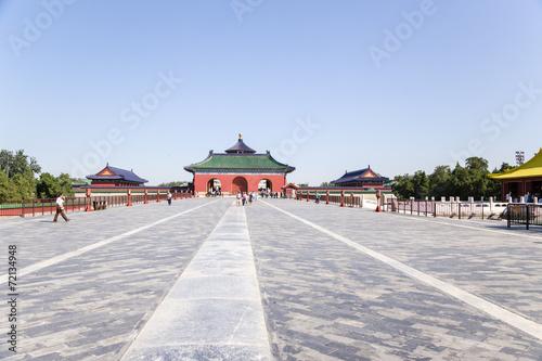 Foto op Aluminium Beijing Beijing. Vermilion Steps Bridge. Temple of Heaven (Tiantan) - 2