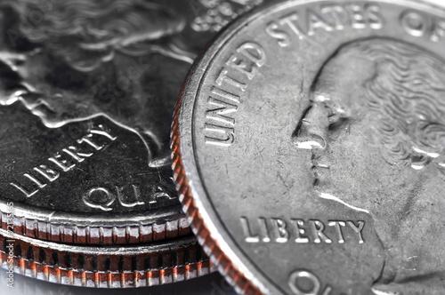 Fototapeta quarter coins obraz