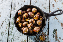 Roasted Chestnuts In The Pan
