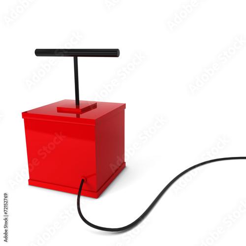 Valokuvatapetti Red detonator