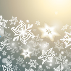 Panel Szklany Góry winter background with snowflakes