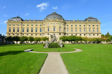Würzburger Residenz, Südseite, Hofgarten, Weltkulturerbe