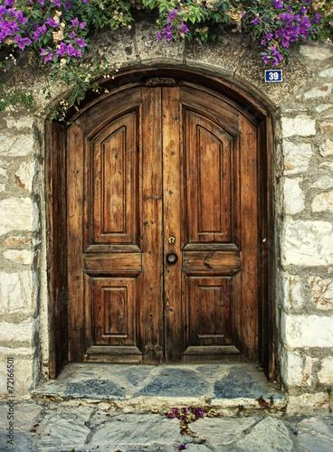 Fotografie, Obraz  Wooden Door