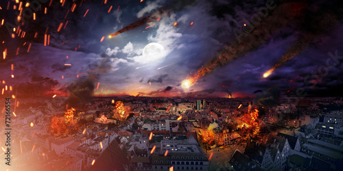 Fototapeta Conceptual photo of the apocalypse obraz