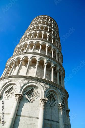 Poster Artistiek mon. Leaning Tower of Pisa or Torre pendente di Pisa, Miracle Square