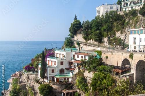 Photo Stands Kiev View of a village at Amalfi coast