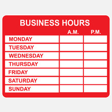 Business, Hours