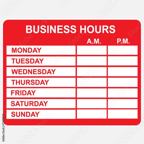 Fényképezés  Business, Hours