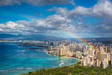 Rainbow Over Hawaii Skyline