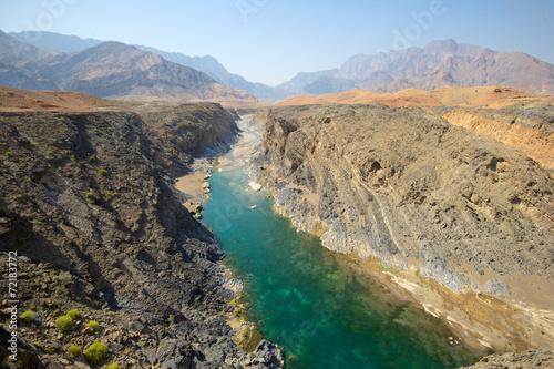 Fotobehang Midden Oosten Wadi Dyqah, Oman