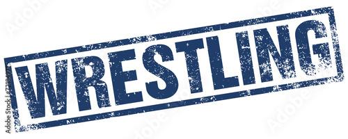 Obraz na plátně  wrestling rubber stamp