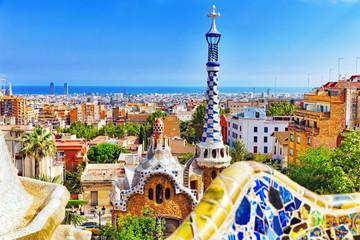 Prekrasan i nevjerojatan park Guel u Barceloni.