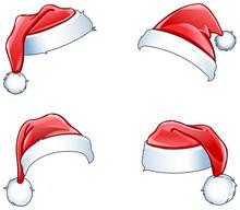 Glossy Santa Hats