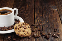 Coffee With Chocolate Cookie