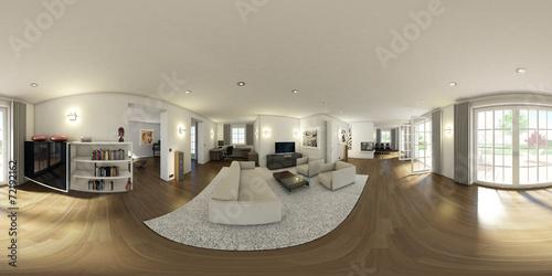 Fotografia  Küche-Wohnraum 3D 360