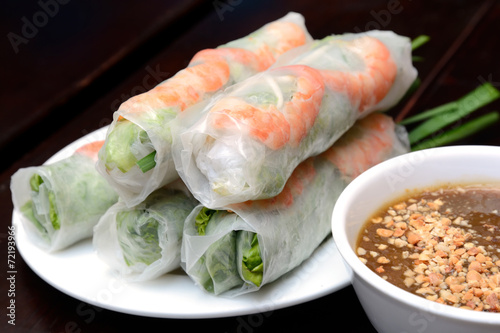 Canvastavla  Fresh Spring Roll
