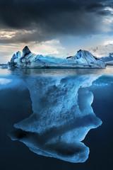Panel Szklany Zima Iceberg