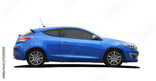 Fototapeta blue sport coupe obraz