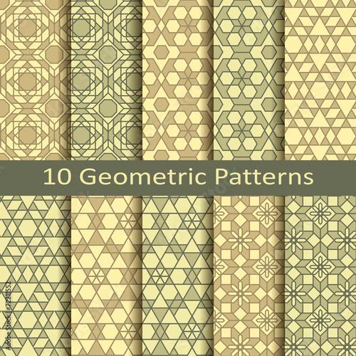 Türaufkleber Künstlich set of ten geometric patterns