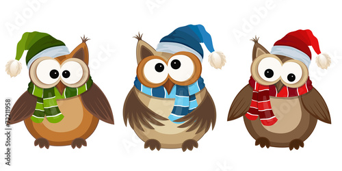 Canvas Prints Owls cartoon Funny owls