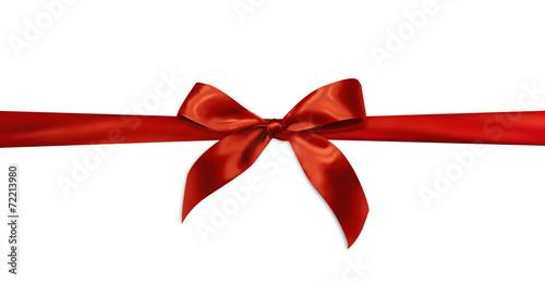 Photo  Red gift ribbon
