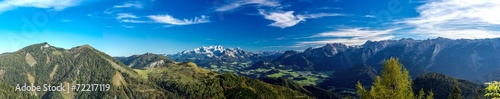 Keuken foto achterwand Panoramafoto s Panorama Richtung Dachstein