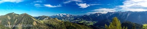 In de dag Panoramafoto s Panorama Richtung Dachstein