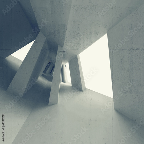 blekitnego-abstrakta-3d-pusty-wnetrze-z-perspektywicznym