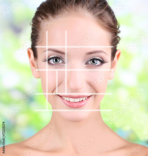 Photo Female beauty concept. Perfect face proportions