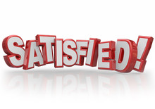 Satisfied 3d Letters Word Happy Fulfilled Customer Satisfaction