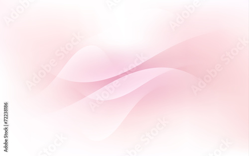 Soft Pink Pastel Light Cloud Waves Sky Background Vector Canvas Print