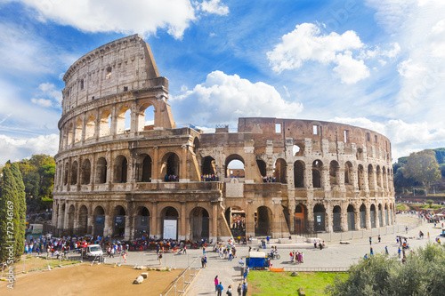 Foto op Canvas Rome Colosseum in Rome, Italy