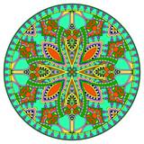 decorative design of circle dish template