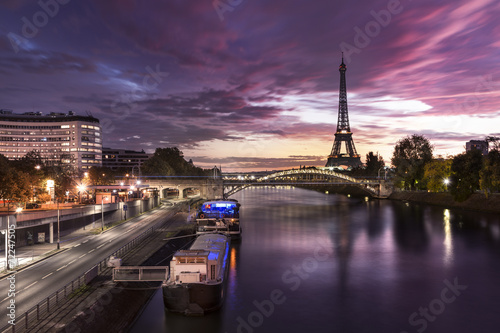 City on the water The Eiffel Tower Paris Seine River