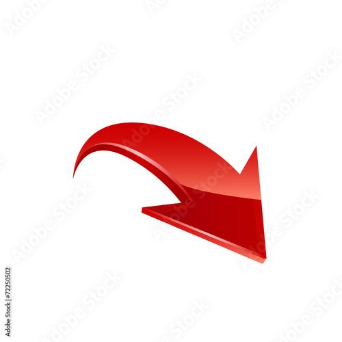Fotografía  Red Arrow. Vector.