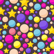 Vector Cosmic Pattern With Fun...