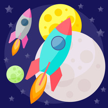 Vector Space Background With P...