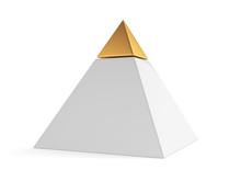 Pyramid With Golden Cap