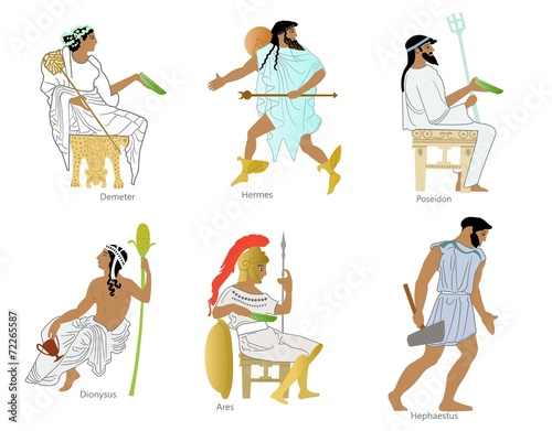 Photo  Ancient greek gods and goddesses