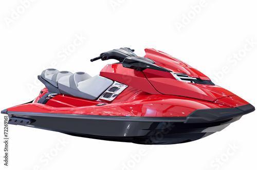 Papiers peints Nautique motorise Red jet ski isolated on white